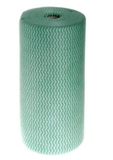 **** CAGW **** Antibacterial GREEN Cloth Wipes - Roll of 100 Sheets, 40 metres