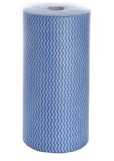 **** CABW **** Antibacterial BLUE Cloth Wipes - Roll of 100 Sheets, 40 metres