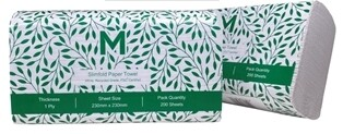***** MRS200-20 ***** Matthews RECYCLED 1PLY Slimfold Paper Towel, 200 sheets x 20 packs