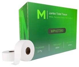 ***** MRJ300-8 ***** Matthews RECYCLED 2PLY Jumbo Toilet Tissue, 300 metres x 8 rolls
