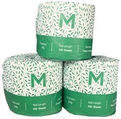****** MRT400-48 ****** Matthews RECYCLED 2PLY Toilet Rolls, 400 sheets x 48 rolls - WRAPPED