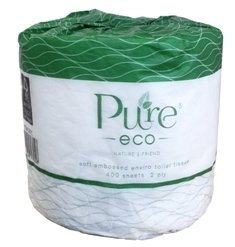 ****** ET400 ****** PureECO 2PLY RECYCLED Toilet Rolls, 400 sheets x 48 rolls – WRAPPED