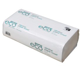 ***** EH200 ***** PureECO 1PLY RECYCLED Slimfold Paper Towels, 200 sheets x 20 packs