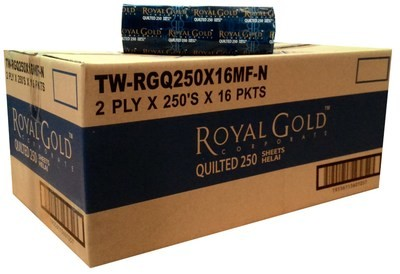 *** RGH250Q-2P *** RoyalGOLD 2PLY VIRGIN Deluxe Paper Towels, 250 sheets x 16 packs