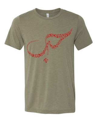 Love Heather Olive Tee