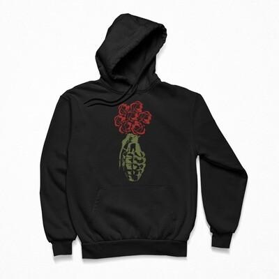 Peace Petals Black Hoodie