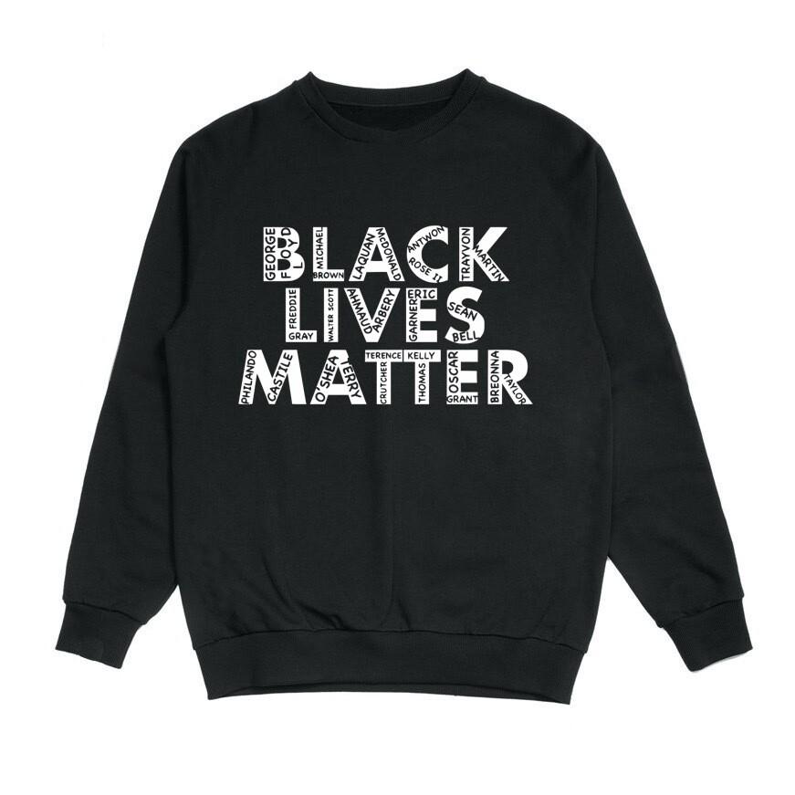 Black Lives Matter Black Crewneck