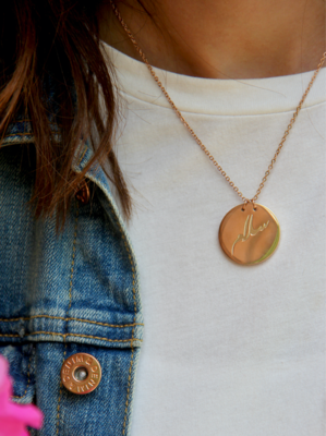 Salam (Peace) Coin Necklace