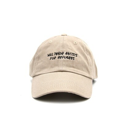Trade Racists For Refugees Khaki Dad Cap