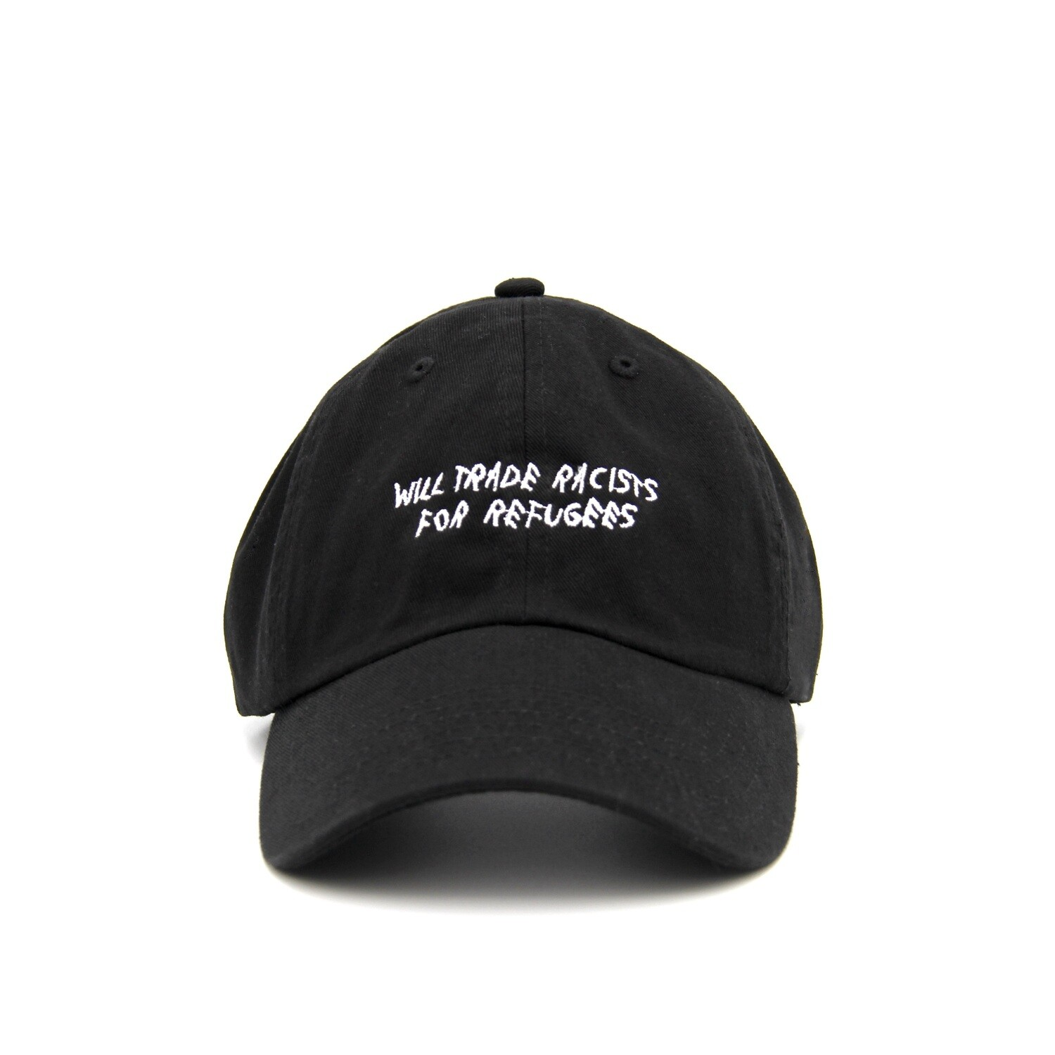 Trade Racists For Refugees Black Dad Cap