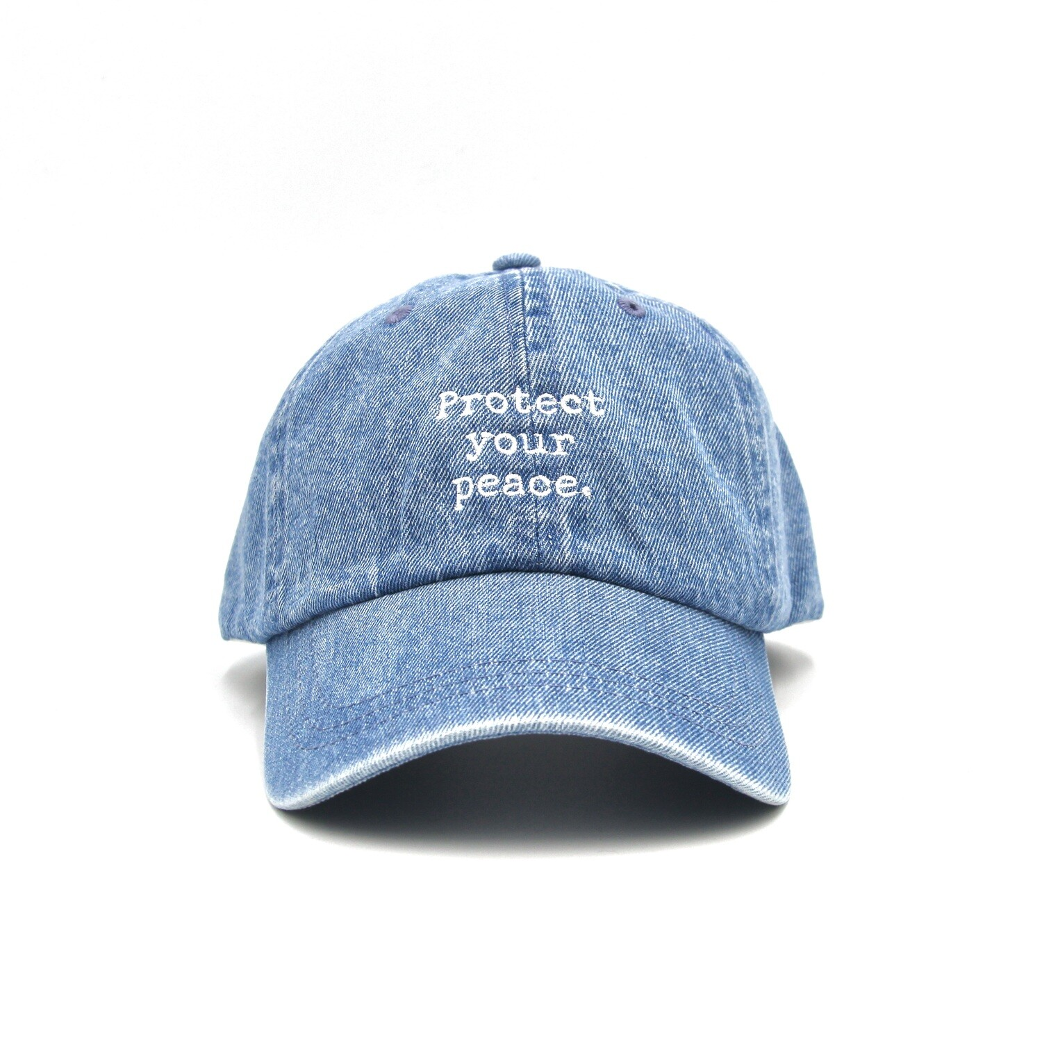 Protect Your Peace Denim Dad Cap