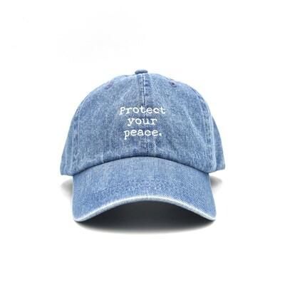 Protect Your Peace Denim Dad Cap