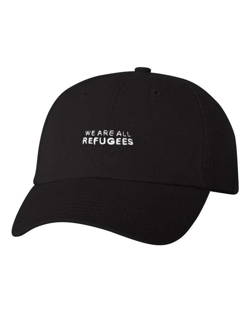 All Refugees Black Dad Cap