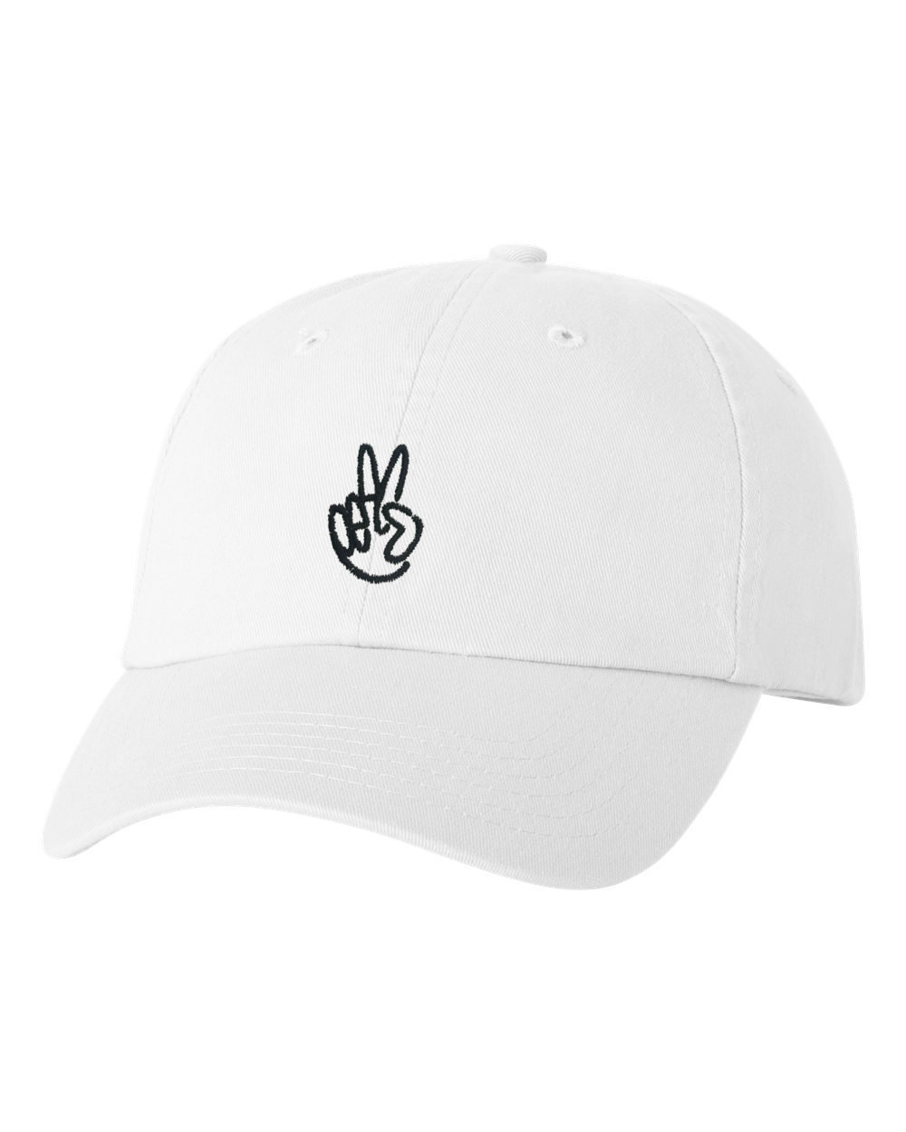 Peace White Dad Cap