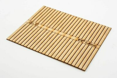SLEEPERS TIMBER 4 MM 10' X 8.6 X 1.5MM THICK PACK 100