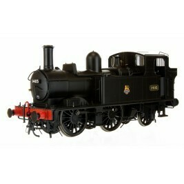 14XX CLASS BR EARLY CREST BLACK 1405 AUTO FITTED AND AUTO COACH CRIMSOM & CREAM DAPOL  7P-004-008