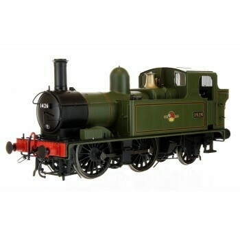 14XX CLASS BR LATE CREST 1426 LINED GREEN AUTO FITTED AND AUTO COACH CRIMSON DAPOL 7P-004-009
