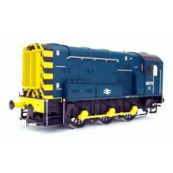 DAPOL CLASS 08 BLUE WITH WASP STRIPS LATE CREST UN-NUMBERED NO LADDER