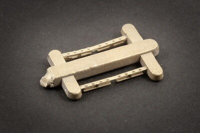 4MM FISH PLATES 12 H SECTION BRASS FOR 6 TRACK JOINTS