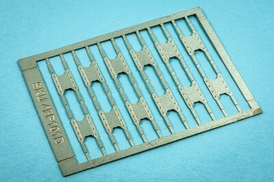 4MM FISH PLATES ETCH NICKEL SILVER 12 PAIRS REINFORCED WEB