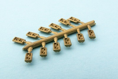 4MM CROSSING NOSE CHAIR BRASS  5 SETS