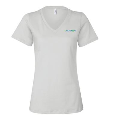 Women's V-Neck: 6405 Bella+Canvas Ladies' Relaxed Jersey Short-Sleeve V-Neck