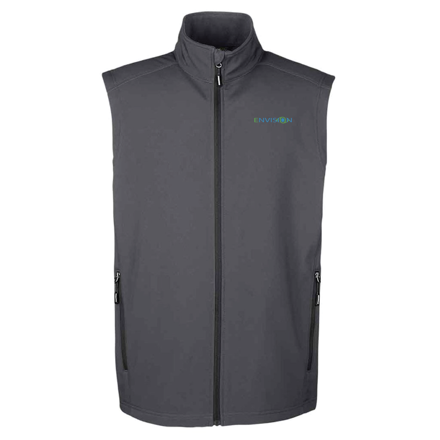 Envision Men's Vest: CE701 Ash City - Core 365 Men's Cruise Two-Layer Fleece Bonded Soft Shell Vest