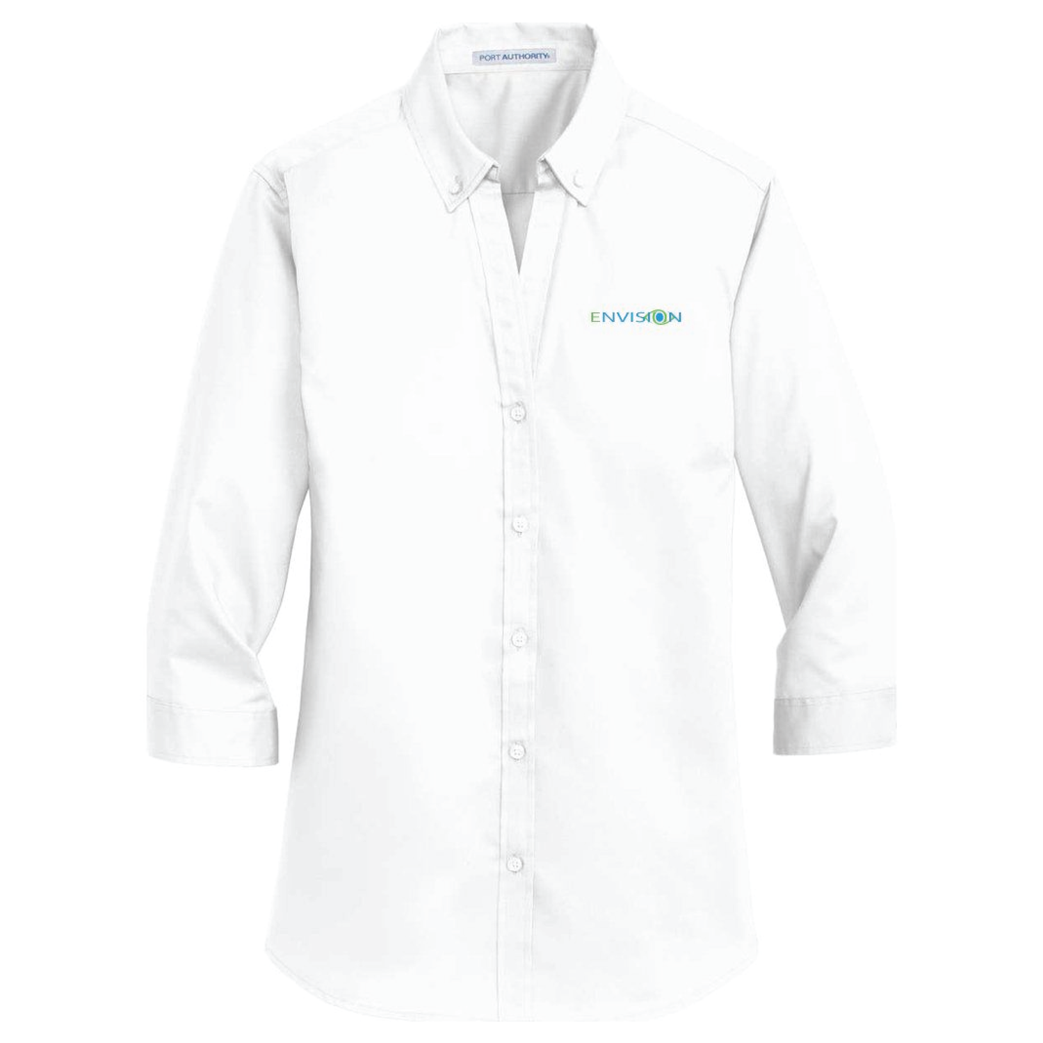 Envision Women's 3/4 Sleeve Button Down: L665 Port Authority® Ladies 3/4-Sleeve SuperPro™ Twill Shirt