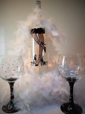 Sexy legs wine set