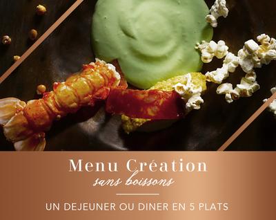 Menu Création : un déjeuner en 5 plats (pour 2 personnes)