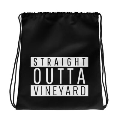 STRAIGHT OUTTA VINEYARD Drawstring bag