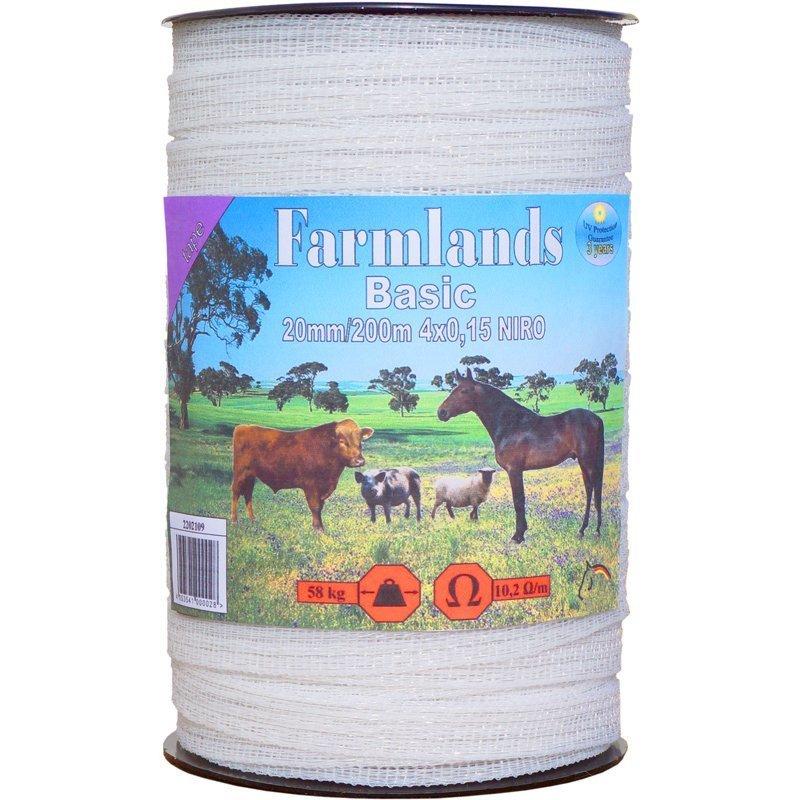 """Farmlands, Breitband """"Basic"""", 20mm, 200m, 4x0,15 NIRO"""