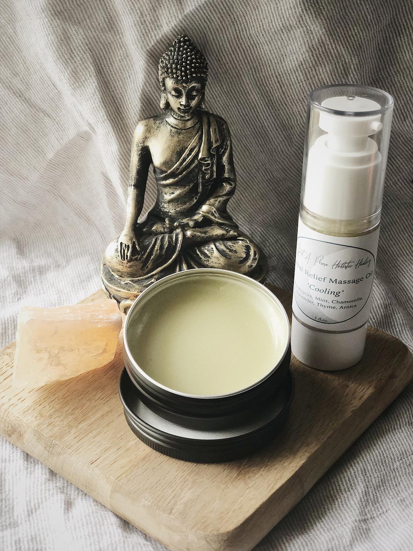 """Relief"" Polarizing Massage Oil & Salve"