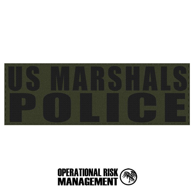 "3"" X 9"" US MARSHALS POLICE ID PANEL"