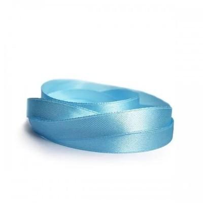 Лента атласная 12 мм голубая