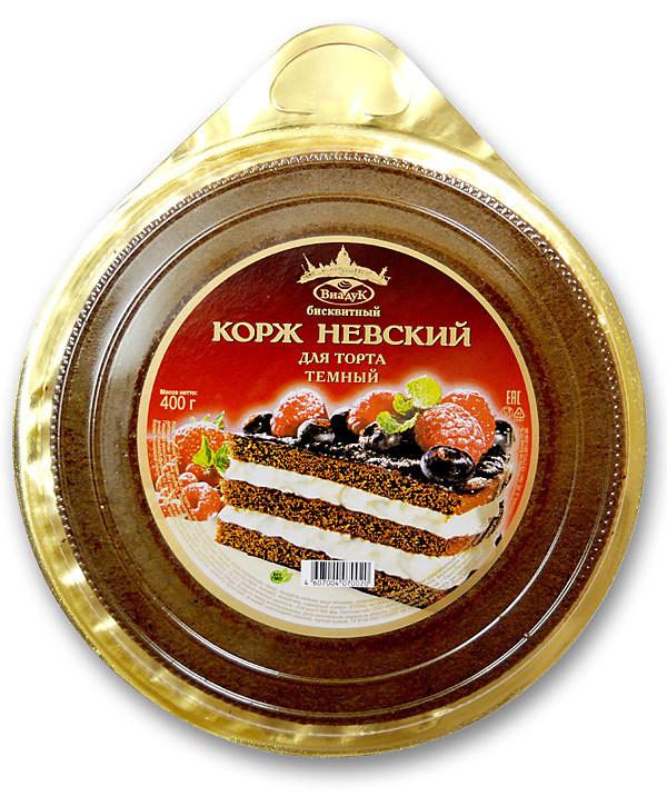 Коржи для торта Невские шоколадные. 3 коржа, 400 гр.