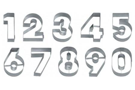 Набор вырубок цифры, металл 4х5 см.