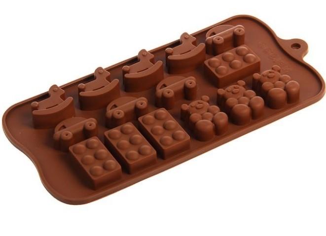 """Форма для шоколада """"детские игрушки"""" 21 х 11 х 1,5 см"""