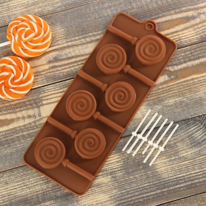 """Форма для леденцов и шоколада """"Леденец"""" (диам 4см)"""