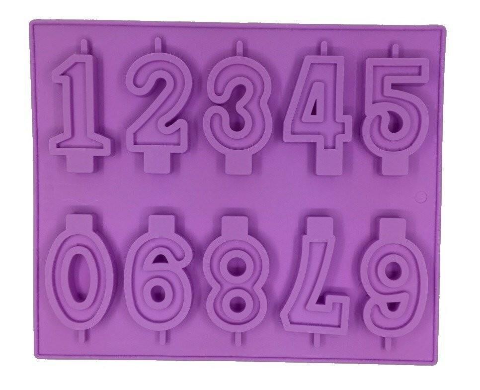 """Форма 10 ячеек, 26х21 см """"Цифры"""" (высота 6-7см)"""