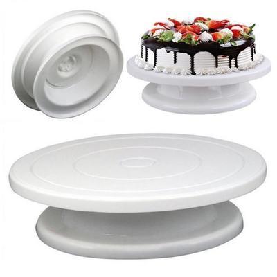 Столик поворотный для декорирования торта 28 см ЦВЕТ МИКС
