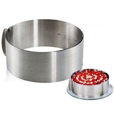 Раздвижное кольцо для выпечки и сборки торта. 16-30см. высота 8.5см