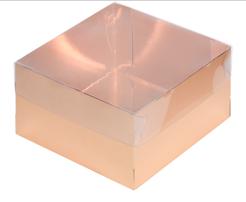 Коробка для зефира ПРЕМИУМ золото 20х20х7см