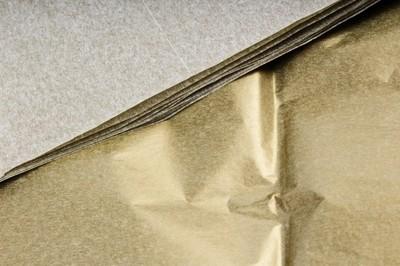 Бумага тишью Золото 50х66 см (10 листов)