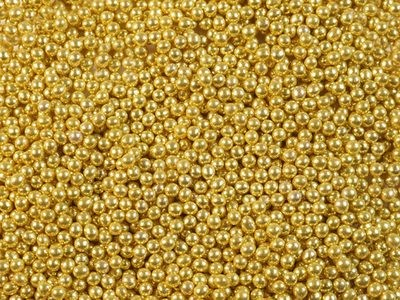 Шарики сахарные золото 3мм 50 гр