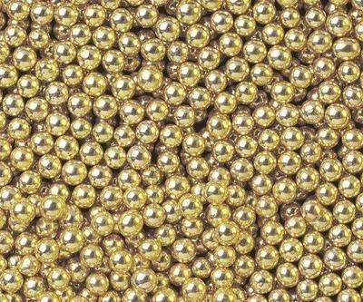 Шарики сахарные золото 5мм 50 гр
