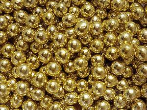 Шарики сахарные золото 7мм 50 гр