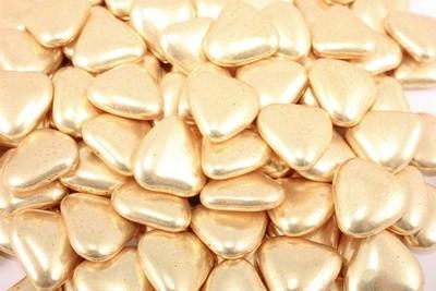Сердечки золото 20мм 100 гр