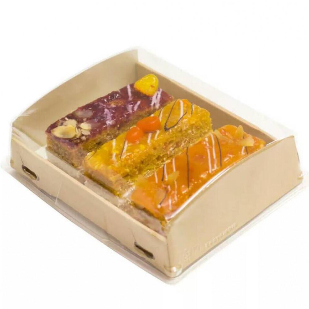 Упаковка для эклеров и пряников с прозрачной крышкой 20х10х4 см