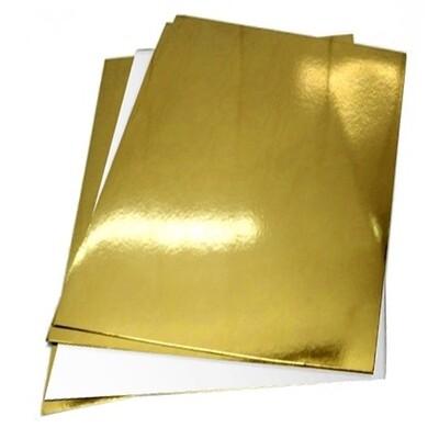 Подложка усиленная двусторонняя золото/белый 1.5мм 30х40